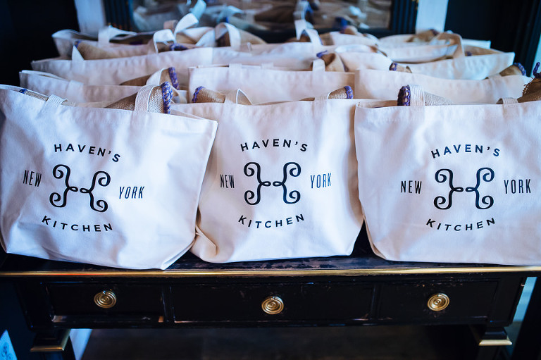 Guest gift bags from Haven's Kitchen