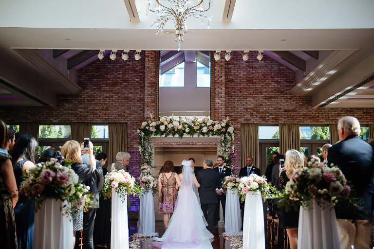 Wedding ceremony at the Inn at Fox Hollow