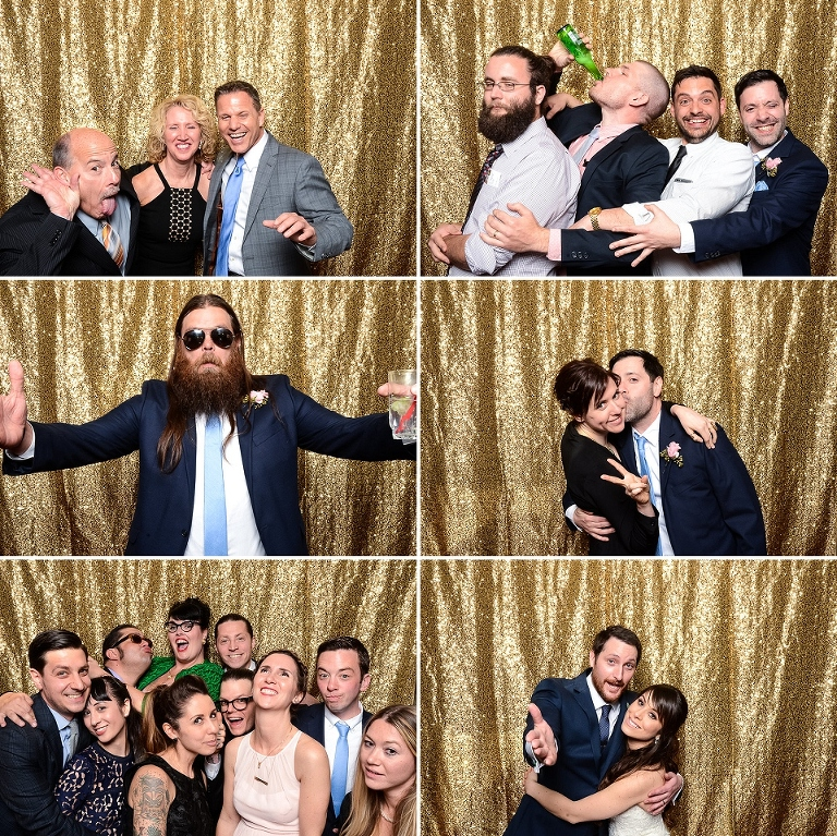 Wedding photo booth at the Inn at Fox Hollow