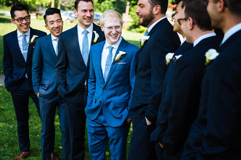 Groom and groomsmen before the ceremony