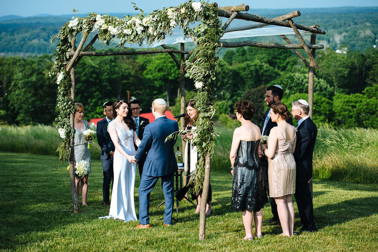 Outdoor ceremony under the chuppah