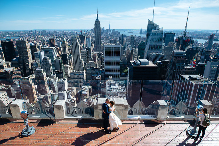 Top of the Rock wedding photographer