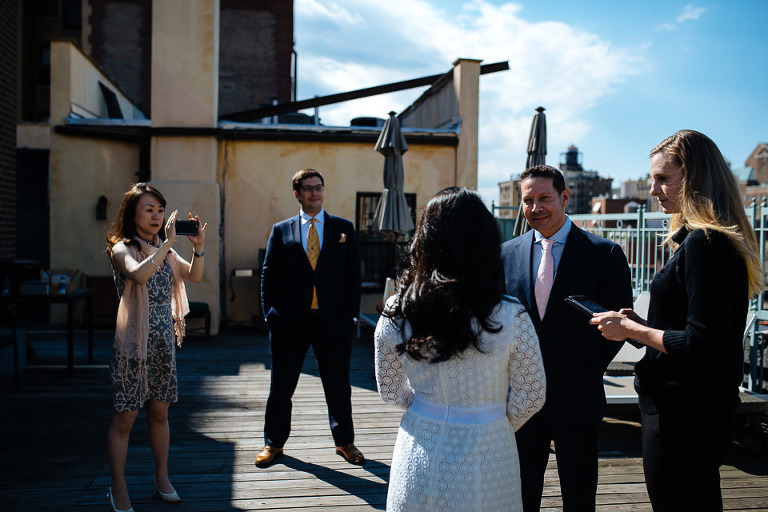 UES penthouse wedding ceremony on private terrace