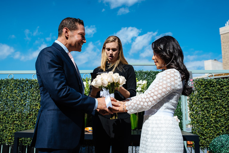 Wedding ceremony in UES penthouse