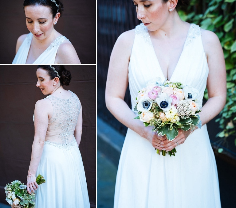 The bride and her beautiful details