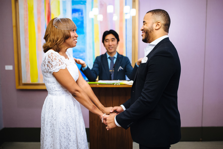 Being pronounced married at the Marriage Bureau