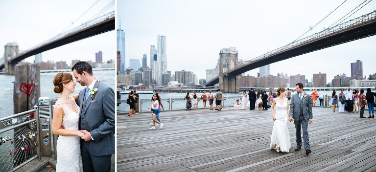 The DUMBO waterfront is always great for wedding portraits