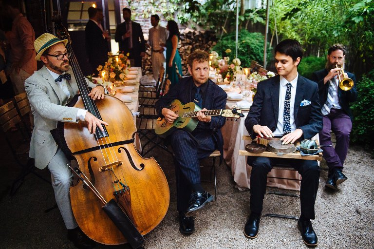 Blue Vipers of Brooklyn set the wedding reception mood with live jazz