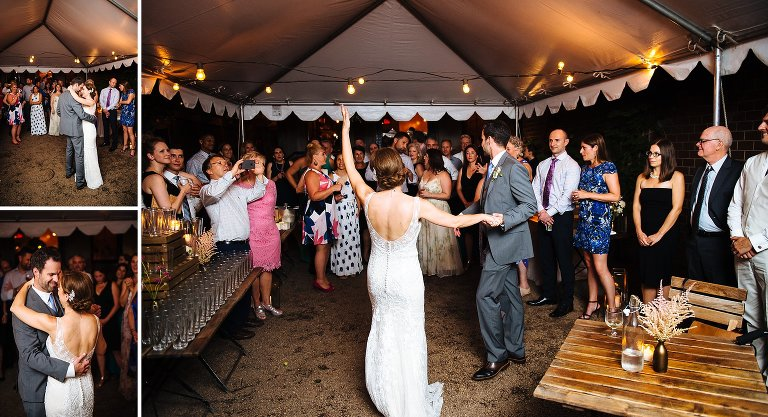First dance at the tented backyard of Frankies 457 in Carroll Gardens