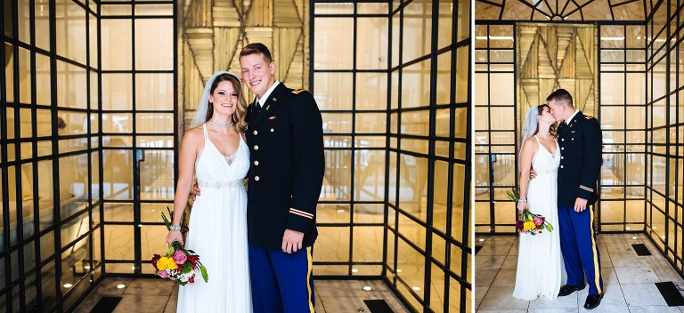 The entryway to The Marmara in midtown made the perfect spot to grab a few quick portraits of the bride & groom