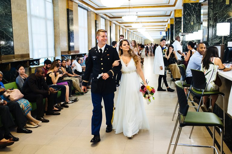Elopement couples get married at City Hall NYC