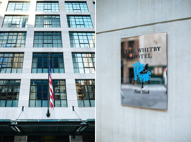 Details of The Whitby Hotel in midtown Manhattan
