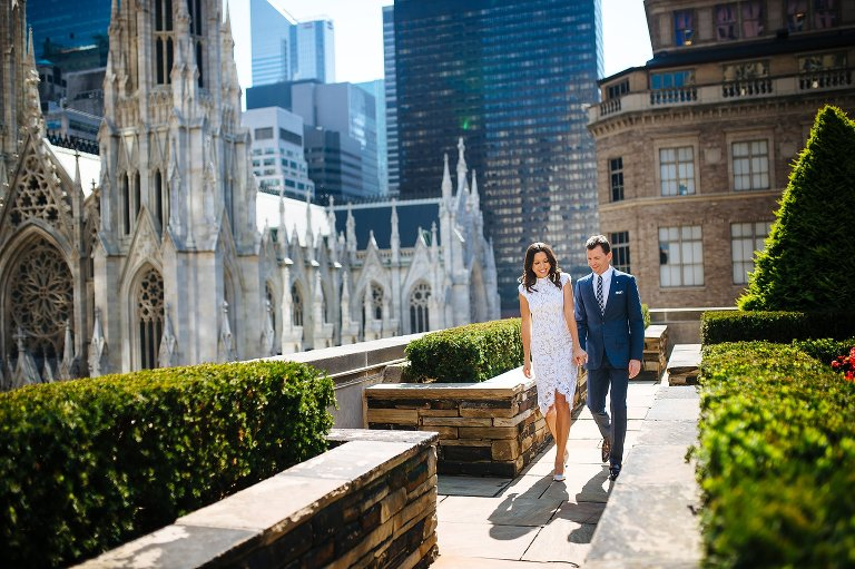 the 620 loft and garden wedding couple just after their rooftop ceremony - 620 Loft And Garden