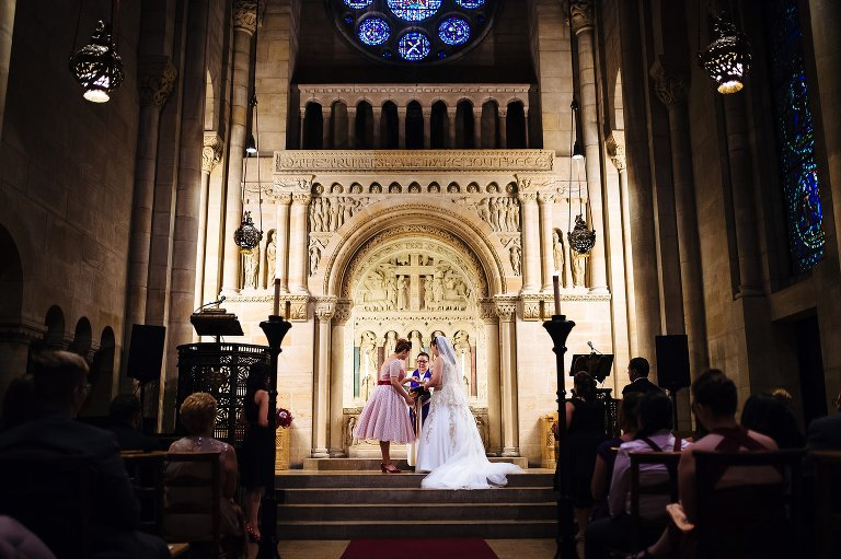 A religious elopement ceremony at Riverside Church