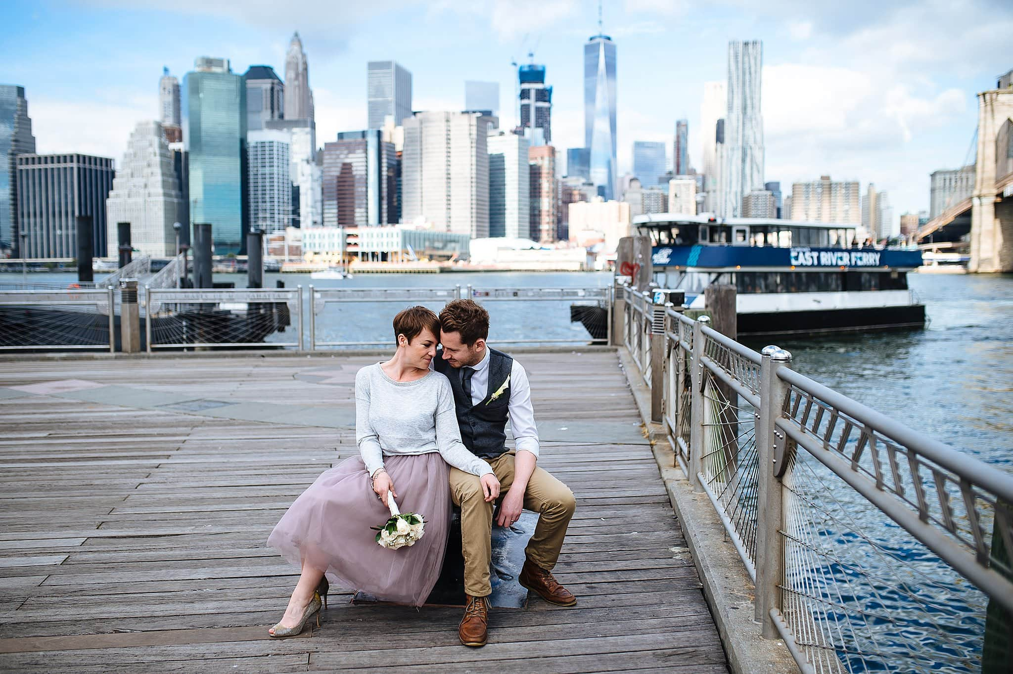 Explore the city for portraits when you elope