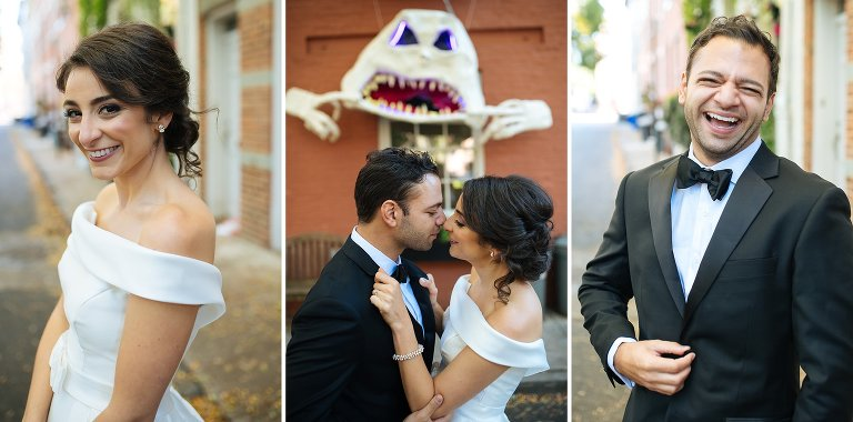 Some fun wedding portraits in Brooklyn just before Halloween