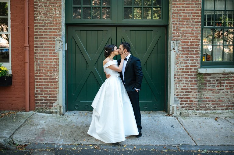 Wedding portrait in Cobble Hill Park