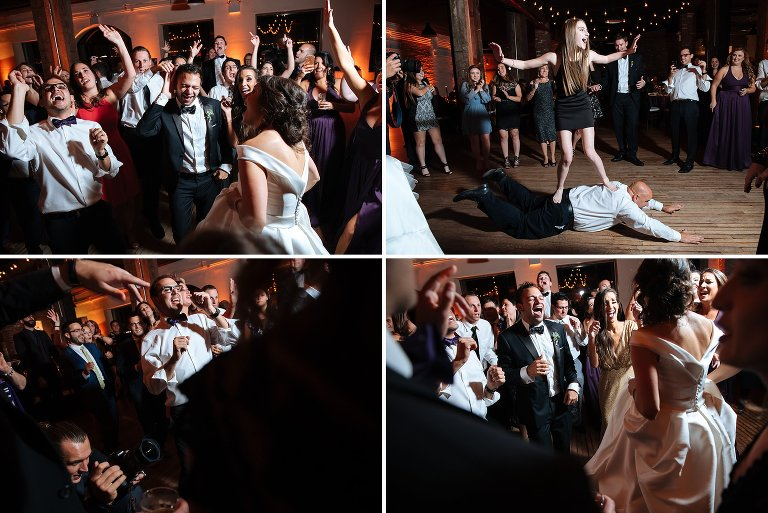 Wild dance floor from Liberty Warehouse wedding reception