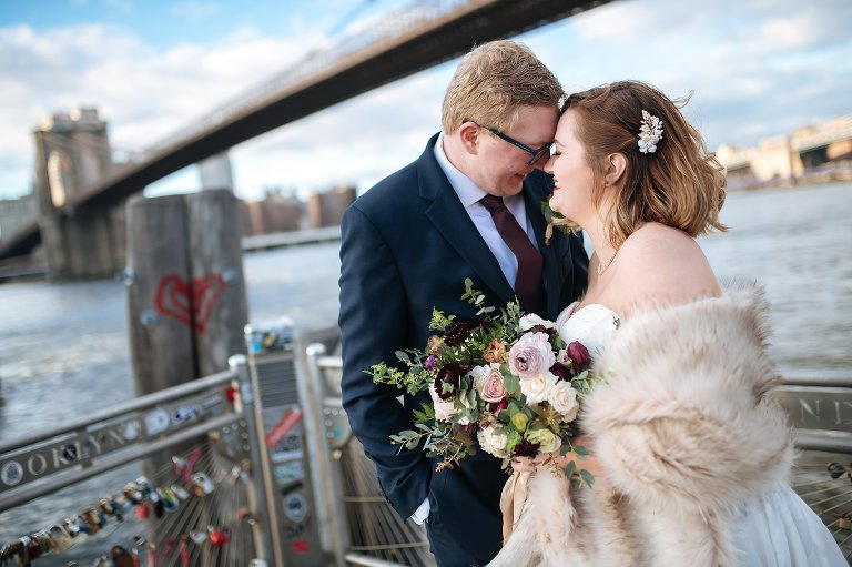 Wedding photos in DUMBO Brooklyn