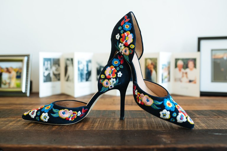 Swedish floral bridal shoes