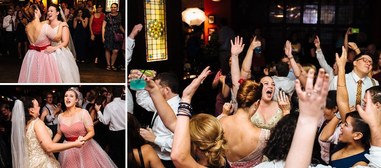Wedding dance party at Tir Na Nog Times Square