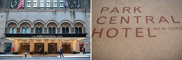Exterior details of Park Central Hotel NYC